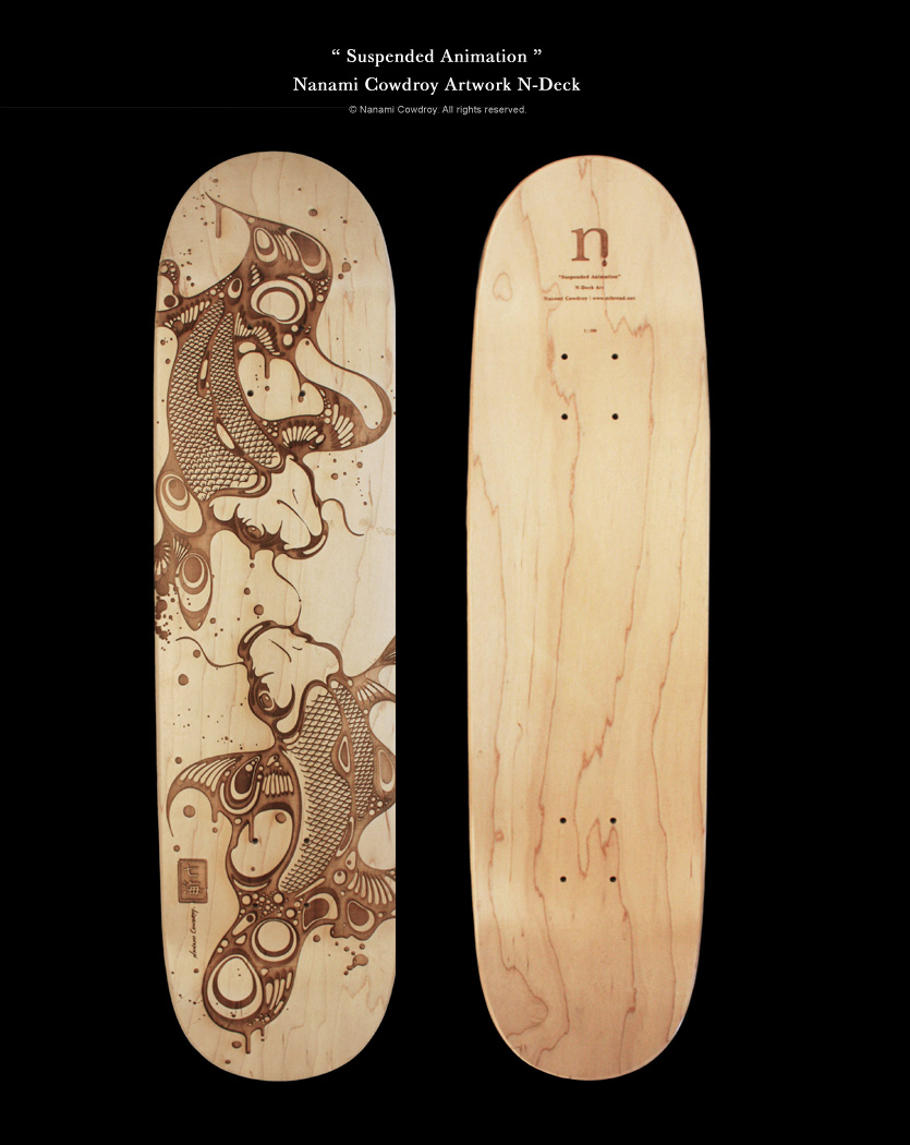 Illustrated Skate Deck by Nanami Cowdroy | ILLUSTRATION AGE