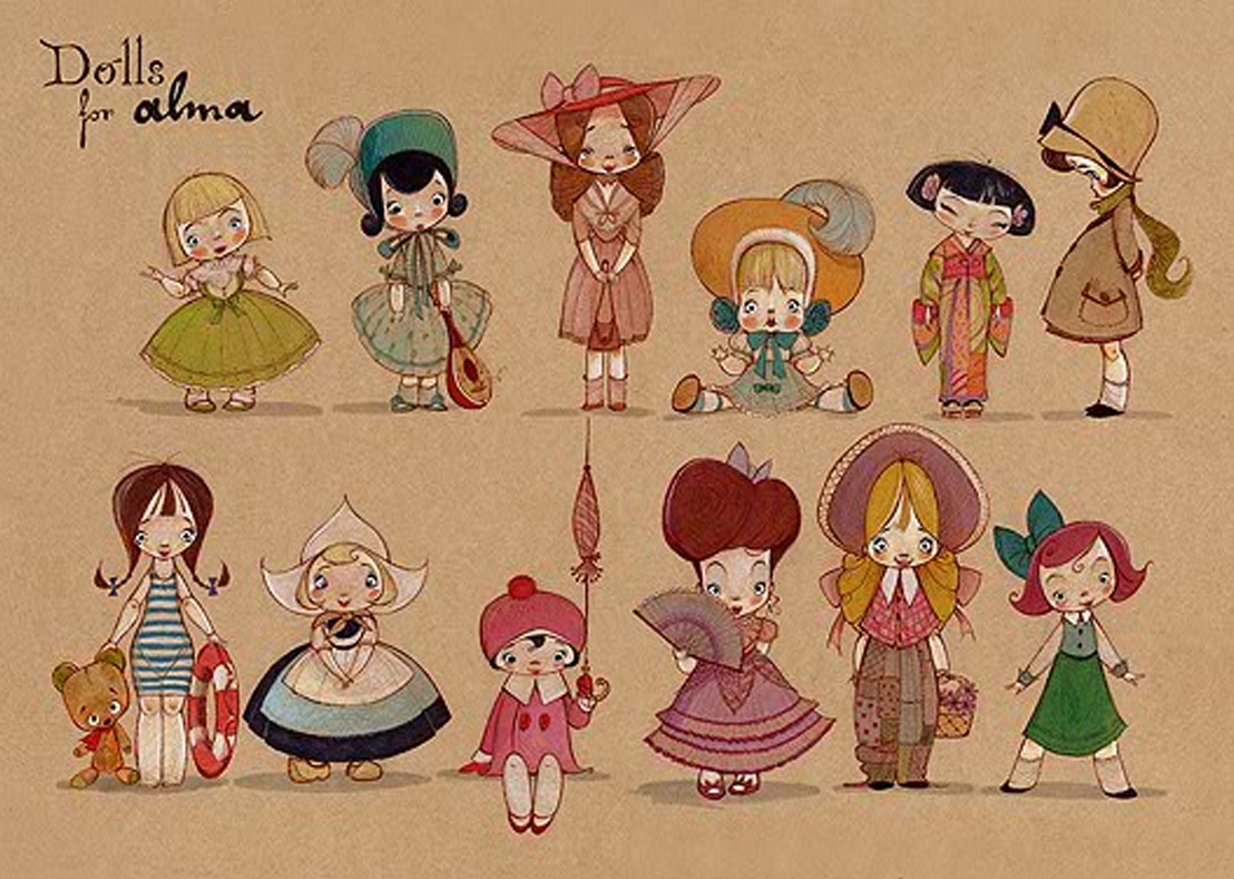 "Character Design Artwork : Character design for short animation ""alma illustration age"