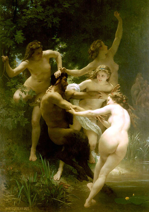 Nymphs and Satyr by Bouguereau