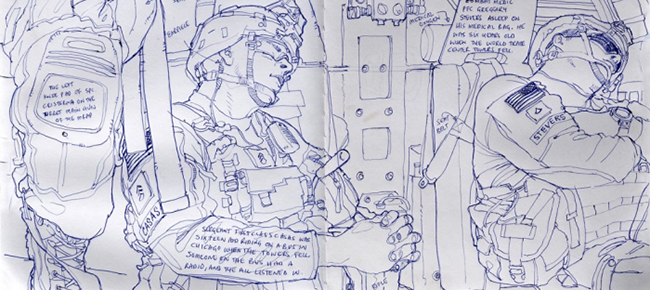 Richard Johnson Returns to Afghanistan to Draw the Drawdown