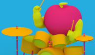 3D Animated GIF Art by Julian Glander