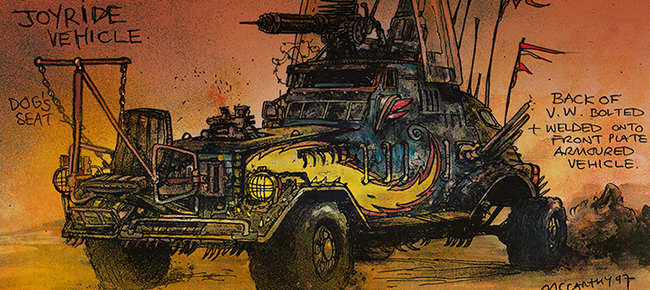 Mad Max Fury Road Concept Art by Brendan McCarthy