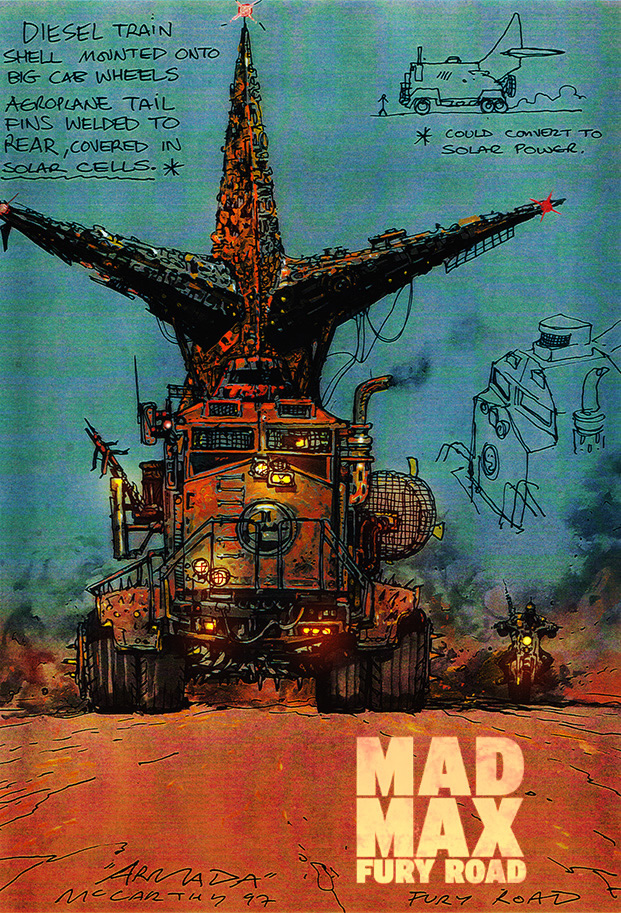 Mad Max Fury Road Concept Art By Brendan McCarthy ILLUSTRATION AGE