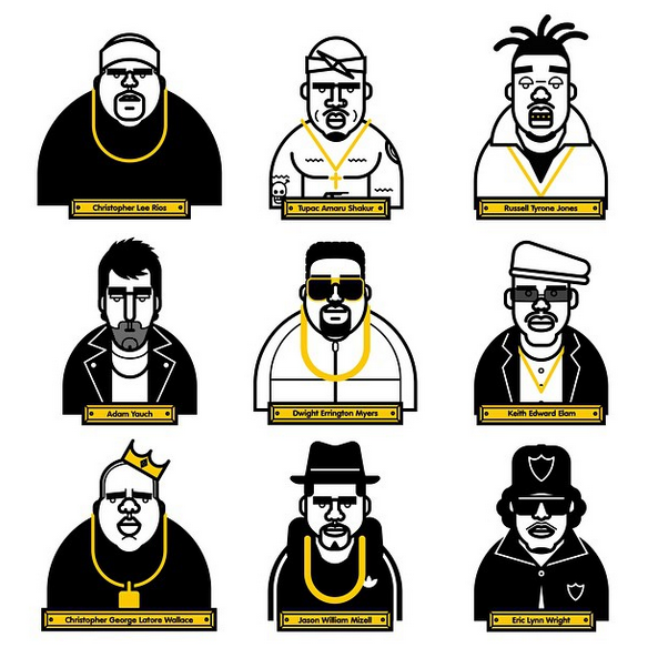 Portraits of Hip Hop Legends by Martin Donnelly ...