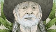 Willie Nelson Portrait by Barry Bruner