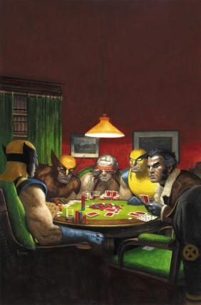 Wolverines-playing-poker-by-Paolo-Rivera