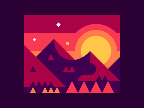 mountain-sunrise-dribbble-alex-pasquarella
