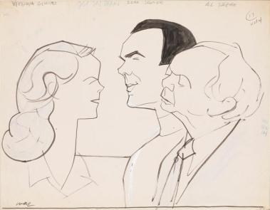 Virginia Gilmore, Dean Jagger, and Al Shean