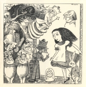 Eva Le Gallienne, Howard Da Silva, Josephine Hutchinson, Doris Sawyer, Seth Thomas, Leona Roberts, Joseph Schildkraut, Burgess Meredith, Landon Herrick, Landon Herrick, Walrus, and Florida Friebus in Alice in Wonderland.