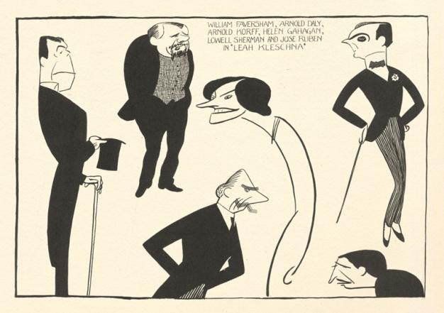 William Faversham, Arnold Daly, Arnold Korff, Helen Gahagan, Lowell Sherman, and Jose Ruben in Leah Kelschna.